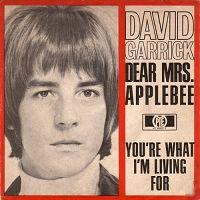 David Garrick - Dear Mrs Applebee cover