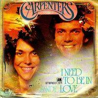The Carpenters - I Need To Be In Love cover
